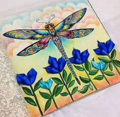 Libélula por Sheyla Braz#inspirationalcoloringpages #coloringbooks…