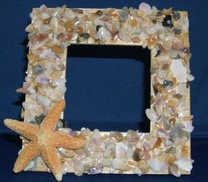 seashell crafts | Seashell Frame Shell Craft Kit - Make Your Own Seashell Frame