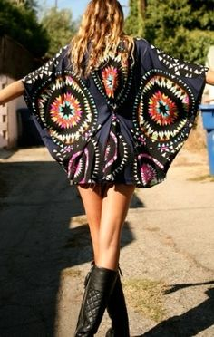 Flat Poncho Top - DRESSES - Shop Online ($200-500) - Svpply