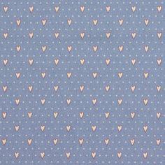 Véro's World – Country Chic Hearts 1 - Baumwolle - blau
