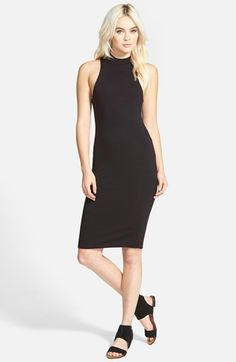 Leith+Mock+Neck+Midi+Dress+available+at+#Nordstrom