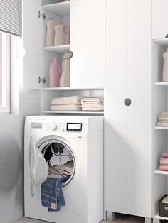 Armarios-en-el-cuarto-de-la-lavadora