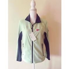 North End Zip Up Fleece north end yacht club emblem jacket brand new never worn in mint green and gray with tags still attached. North End Tops Sweatshirts & Hoodies
