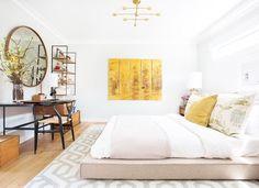 Bright white bohemian bedroom
