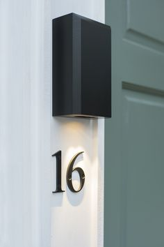 Ideal for your bathroom or garden, the Newport is a contemporary black, wall mounted downlighter from our range of modern & vintage, UK made exterior light fittings. Contemporary Wall Lights, Modern Wall Lights, Powder Coating Process, Window Furniture, Modern Properties, Modern Door, Natural Building, Black Doors, Traditional Interior