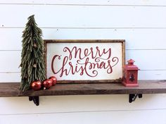 Merry Christmas Sign Rustic Christmas Sign by sophisticatedhilbily