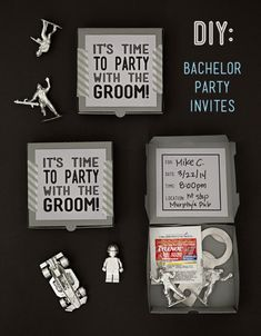 SomethingTurquoise: DIY Silly Bachelor Party Invites