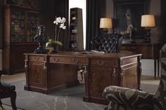 A traditional office from The Stately Homes Collection.
