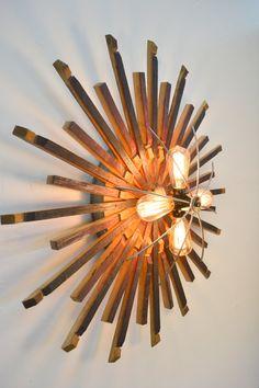 BARREL ART Radiant Light Wine Barrel by winecountrycraftsman