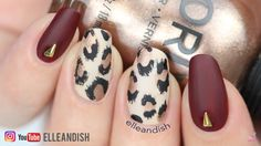 Nail design by elleandish Matte red leopard print