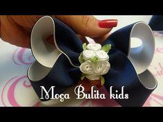 Laço Boutique feito com fita cruzada em forma de x fácil de fazer - YouTube Goncalves, Ribbon Art, Diy Bow, How To Make Bows, Fabric Flowers, Diy Tutorial, Hair Bows, Hair Clips, Diy And Crafts