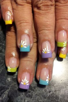 I have a collection of 15 Spring Gel Nail Art Designs, Ideas & Stickers 2016 that you can try out in this beautiful season of mist and mallows. Easter Nail Designs, Nail Designs Spring, Nail Art Designs, Nails Design, Floral Designs, Cute Spring Nails, Spring Nail Art, Long Stiletto Nails, Toe Nails