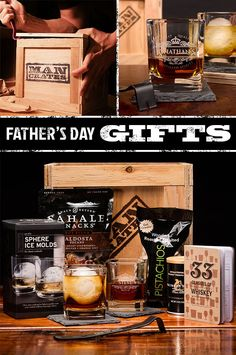 I'm positive Dad is going to love this Personalized Whiskey crate - especially for Father's Day   ManCrates