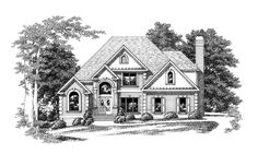 Eplans New American House Plan - Original Home with Plenty of Appeal - 2543 Square Feet and 3 Bedrooms(s) from Eplans - House Plan Code HWEPL09446