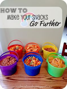 RACKS and Mooby: Stuff it! {aka - How to make snacks go further}