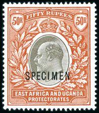 1903 50R Edward VII Commonwealth, Postcards, Stamps, Coins, British, Door Bells, Postage Stamps, Seals, Rooms