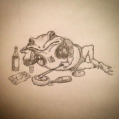 Frog Tattoos, Print Tattoos, Traditional Japanese Art, Traditional Tattoo, Oni Mask Tattoo, Tattoo Oriental, Making My Way Downtown, Frog Art, Japan Tattoo