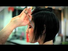 haircut - bob with graduation (disconnected bob) - YouTube