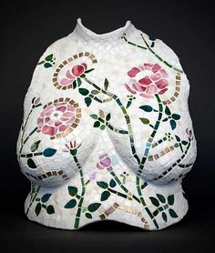 Torso Mosaic with Pink Roses by torsolady  Repin By    http://www.mosaicmosaic.com/
