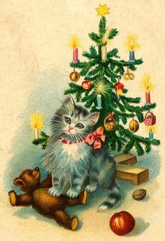Зимние и рождественские винтажные открытки « Николлетто