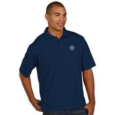 Men's Antigua New York City FC Xtra-Lite Desert-Dry Pique Performance Polo, Size: Large, Blue (Navy)