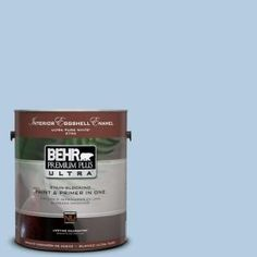 Big Boys room    BEHR Premium Plus Ultra 1-Gal. #PPU14-14 Crystal Waters Eggshell Enamel Interior Paint-275001 at The Home Depot