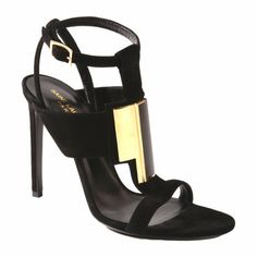 Saint Laurent Paris Janis metal sandal @Sarah Barney