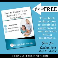 This awesome tool explains how to simply and easily correct your students writing assignments.  The Tool Every Parent Needs to Teach Writing FREEBIE