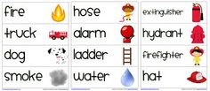 Fire Safety Vocabulary Words: First Grade Garden: Freebies