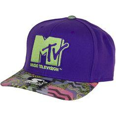 Starter Cap MTV Retro Print purple/grey ★★★★★