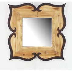 Rustic Metal Wall Decor with Mirror