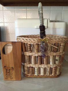 Cork Wine Tote with woodburned cheese board divider by Sandy H.