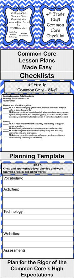 Editable Common Core Weekly Lesson Plan Template Editable For All