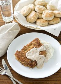 Country Fried Steak and biscuits Sandra Lee style....this is supper YUMMY!