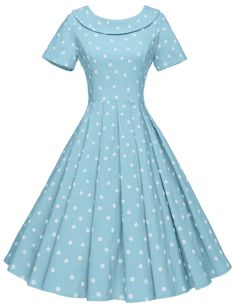 GownTown Women's Polka Dot Vintage Dresses Audrey H. Vintage Dresses 50s, Retro Dress, Vintage Outfits, Vintage Fashion, Party Fashion, Look Fashion, Pretty Dresses, Beautiful Dresses, Pretty Clothes