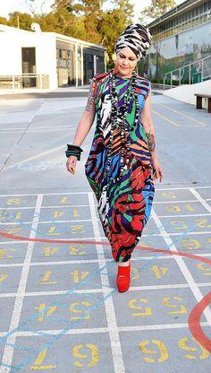 Kazz: Vogue 1234 dress pattern by Sandra Betzina. Made in a 2-way stretch knit