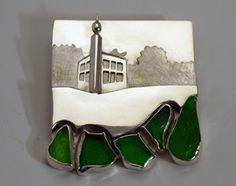 ALETTA TEUNEN.NL opdrachten  ||  brooch / pendant silver concept design of Castle Bouvigne, near Breda