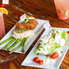 Life's too short to eat bad food. Make memories at mealtime with our Chicken Dinner and Wedge Salad. Red Fish Blue Fish, Wedge Salad, Bad Food, Outdoor Dining, The Good Place, Lunch, Memories, Eat, Chicken