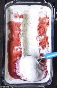 Amarena Gelato. Gorgeous Italian treat easily made at home! No ice cream machine necessary!