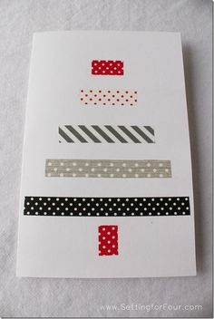 DIY Washi Tape Christmas Card from Setting for Four - brilliant & simple
