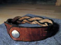 Trestle Leather: Leather Braid Wristband by TrestleLeather on Etsy, $5.00