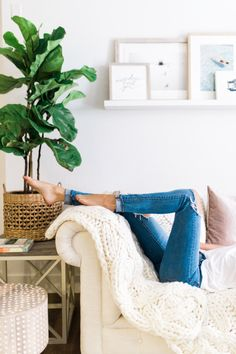 Spring Home Refresh Spring Home, House Rooms, Sweet Home, Lounge, Blanket, Living Room, Living Spaces, Interior Design, Bed