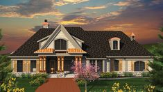 Floor Plan AFLFPW77024 - 2 Story Home Design with 3 BRs and 3 Baths