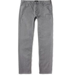 Petit Standard Lightweight Slim-Fit Washed-Denim Jeans