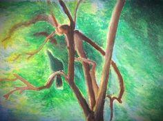 緑の鳥。Green bird