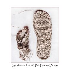 Ravelry: ANY SIZE CUSTUMIZED CROCHET SOLES pattern by Sophie and Me-Ingunn Santini