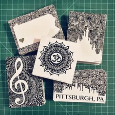 Zentangle Stickers by ZenspireDesigns on Etsy