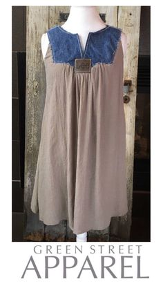 RESERVED for Altered Couture|Boho Dress|Sleeveless Dress|Denim Brown Dress|Sleeveless Dress Women|Sheath Dress|Loose Dress|Women|Casual by GreenStreetApparel on Etsy https://www.etsy.com/listing/548126232/reserved-for-altered-coutureboho