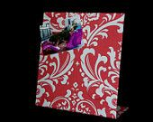 College Dorm Magnetic Board  - Coral Traditions Premier Fabric for  Desktop or Countertop