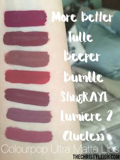 Colourpop Ultra Matte liquid lips!   TheChristyLeigh.com